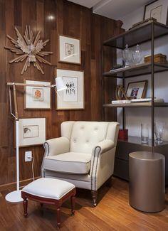 Decoração de: Sala de estar - poltrona para leitura