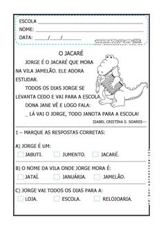 TEXTOS CURTOS COM INTERPRETAÇÃO 1º ANO FUNDAMENTAL Zen, Thing 1, Professor, Worksheets, Bullet Journal, Education, Reading Activities, Literacy Activities, Letter J Activities