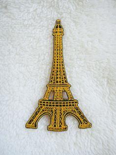 Eiffel Tower Paris France Retro DIY Applique Iron on Patch