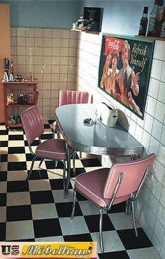 Diner Table, Retro Table, Shabby Chic Kitchen, Vintage Kitchen, 1950s Kitchen, Bel Air, Retro Pink Kitchens, Retro Interior Design, 1950s Decor