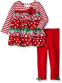 485de78a361d Details about Bonnie Baby Girls Legging Set Knit Long Sleeve Ruffle Holiday  Playwear Tiered NB