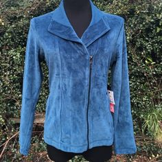 Selling this Liz Claiborne sport petite medium blue velour top in my Poshmark closet! My username is: restlessangel. #shopmycloset #poshmark #fashion #shopping #style #forsale #Liz Claiborne #Tops