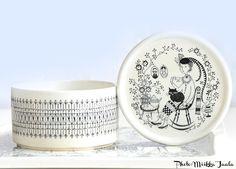 Arabia Emilia, mallin IS1 purkki. Muotoilijana Kaj Franck. Kitchenware, Tableware, Creative People, Finland, Childhood Memories, Stuff To Do, Gabriel, Dining, Illustration