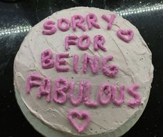 Pretty Birthday Cakes, Pretty Cakes, Funny Birthday Cakes, Cute Food, Yummy Food, Funny Cake, Just Cakes, Aesthetic Food, Aesthetic Girl