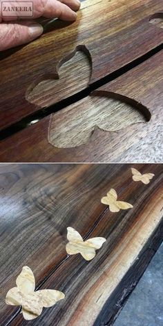 Butterfly joints #WoodworkIdeas