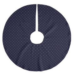 Tree Skirt Dark Blue with Golden Dots. Boom kleed/rok donkerblauw met goudkleurige stippen.