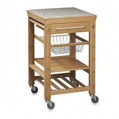 Kitchen Cart with Granite Top Wood/Natural - Linon Home Decor : Target Mobile Kitchen Island, Rolling Kitchen Island, Kitchen Islands, Buffet, Kitchen Design Open, Kitchen Designs, Buy Kitchen, Kitchen Carts, Kitchen Stuff