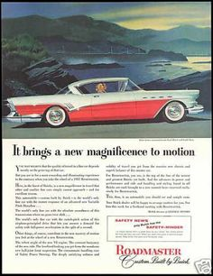 Buick Roadmaster Red White Car Vintage (1957)