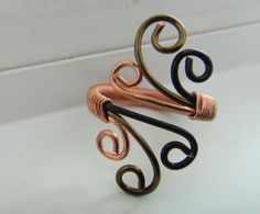 Adjustable Ring Handmade Wire Wrapped Ring  Bronze by Sofieville, $15.00