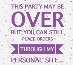 Party Over...