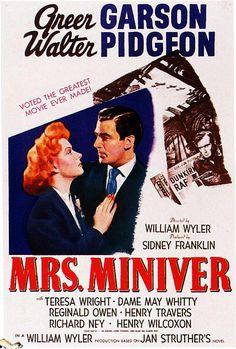 Mrs Miniver - 1942. #film movie #cinema #posters