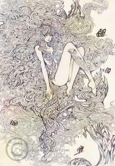 Pencil work - Orphiel by Hellobaby.deviantart.com on @DeviantArt