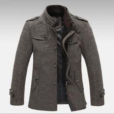 Casual Men's Wool Slim Fit Jacket