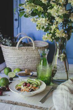 Revelando Sabores: Ensalada de quinoa y cerezas.