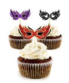 Printable Masquerade masks cupcake toppers for masquerade ball party