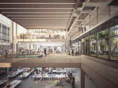Image 21 of 22 from gallery of Serie Architects Releases RCA Battersea Campus Proposal. Courtesy of Serie Architects London Architecture, School Architecture, Architecture Design, Shadow Architecture, Interior Rendering, Interior And Exterior, Arcology, Architects London, Interior Architects
