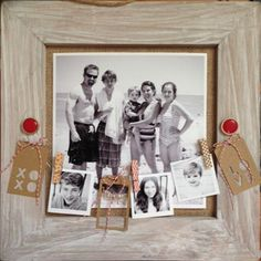 Inspiration for old picture of all the kids with small photos of 20+ years later. not necessarily this layout