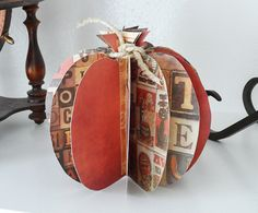 Use fall or Halloween themed card stock to create a fun three dimensional pumpkin to display in your home. Add a little twine to the top and you have a simple piece of decor. Great for fall but works for Halloween or Thanksgiving as well! Add to your fall mantle or use in your ThanksgivingRead More »