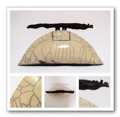 Raku Ceramic by Marieke Vergouw www.urn-atelier.nl