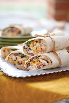 Chili-Lime Southwest Wraps at PaulaDeen.com