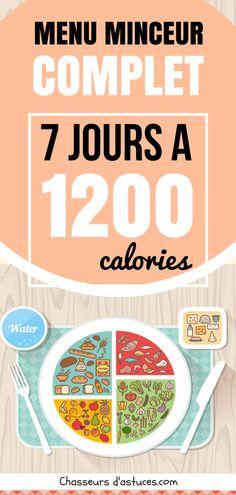 Régime hypocalorique : 7 jours à 1 200 calories ! (recettes complètes)