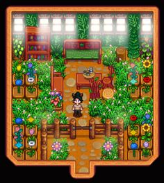 Not even the bite and dullness of winter can bring me down when I've created my own little green sanctuary : StardewValley