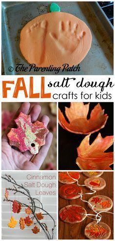 Fall salt dough ornaments and craft ideas for kids to make! (Find pumpkins, leaves, apples, turkeys, and more!)
