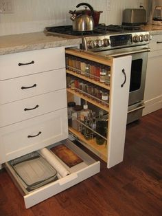 Can't seem to have enough kitchen storage space? Well, how about making use of the toe kick - that area between your cabinet's base and the floor? Most people usually overlook this part of the kitchen but it offers valuable storage space that many of us need! By making toe kick drawers, you'll have the perfect storage area for kitchen equipment that you do not frequently use. You can also store miscellaneous supplies such as plastic cutlery and unopened packs of table napkins. You can ..