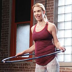 You can tighten your core with a Hula Hoop. Fitness expert Kristin McGee demonstrates how to do a Hula Hoop Pump workout to tone your abs.