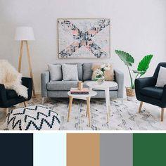 Local Home US - Home Improvement Ideas Nordic Living Room, Elegant Living Room, Scandinavian Living, Home Living Room, Living Room Designs, Living Room Inspiration, Color Inspiration, Home Colour Design, Palette Design