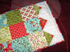 Christmas Table Runner finished by glazedangel101, via Flickr