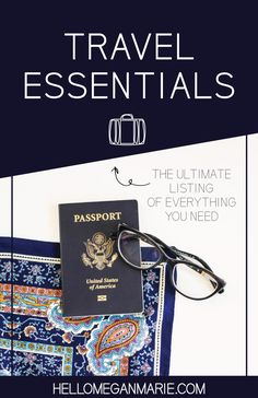 A LISTING OF MUST HAVE TRAVEL ESSENTIALS #travel #solotravel #wanderlust #travelessentials