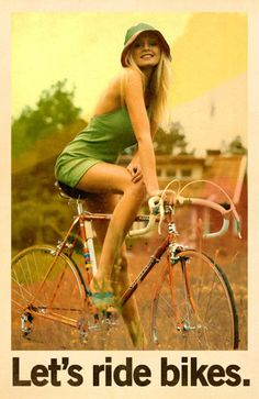 Sexy girls on bicycles posters