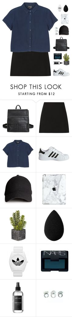 """""""Cropped denim"""" by f-resh ❤ liked on Polyvore featuring Marni, Monki, adidas Originals, H&M, beautyblender, adidas and NARS Cosmetics"""