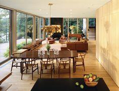 Kent Lake House - modern - dining room - new york - Amy Lau Design