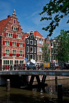 Canal houses in central Amsterdam