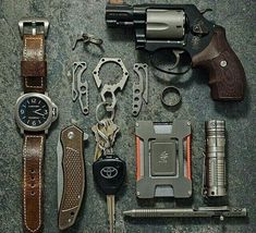 A good EDC kit will contain must-have survival items and items that you actually use on a regular basis.Here's our list of the top 10 best EDC Kits. Edc Tactical, Everyday Carry Gear, Edc Tools, Edc Gear, Krav Maga, Survival Gear, Survival Watch, Outdoor Survival, Firearms
