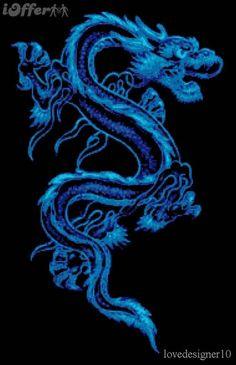 Blue Dragon Kit - X Squared Cross Stitch