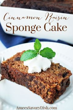 An incredibly delicious vintage recipe for sponge cake made with an easy bread sponge starter, plump raisins, spices, and flour. #cake #cakerecipes #vintagerecipes Easy Desserts, Delicious Desserts, Awesome Desserts, Snack Recipes, Dessert Recipes, Sponge Cake Recipes, Apple Smoothies, Easy Bread, Vintage Recipes