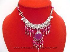 Purple Agate Stone, Alpaca Silver Inca Necklacehttp://www.wholesaleperuvianjewelry.com