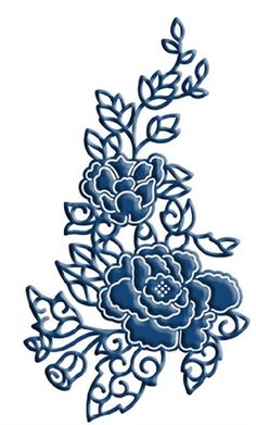 """Rambling Rose - $25.99    Tattered Lace dies are intricate dies that cut a delicate lace image for creating classical or contemporary cards. Size       2.5"""" x 4.4"""""""