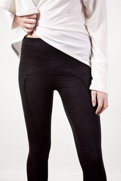 Papercut leggings sewing pattern - LOVE the seam line on the front... Wonder how the fit is?