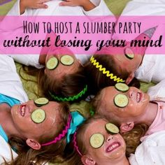 How to survive a birthday sleepover with six girls; I learned the hard way. Slumber Parties, Sleepover, Lose Your Mind, The Hard Way, Party Themes, Parents, Camping, Activities, Learning