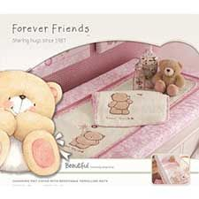 Forever Friends Beautiful Changing Mat Cover with 2 Mats