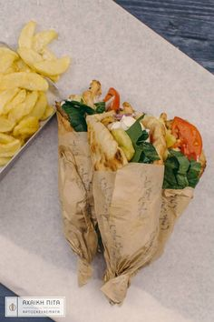 Νothing compares to a traditional greek pita with chicken, your favourite sauce and fresh fries!  #Achaikipita