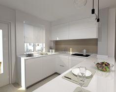 Aravaca | Cocina Santos | Modelo Minos Line Estratificado Blanco | Encimera Silestone Blanco | Docrys Cocinas