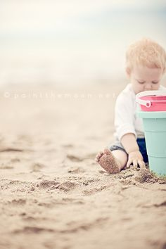 I love the composition of this photo. And that it kind of focuses on the sweet and sandy little toes!