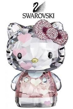 "RETAIL: $600 Swarovski CRYSTAL Figurine HELLO KITTY HEARTS #1142934 Size: 4"" tall, 3"" wide In a brand new condition IN ITS original box"