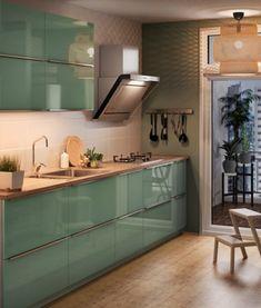 Glänzende Aussichten! Bei dieser kleinen Küche haben wir KALLARP ...