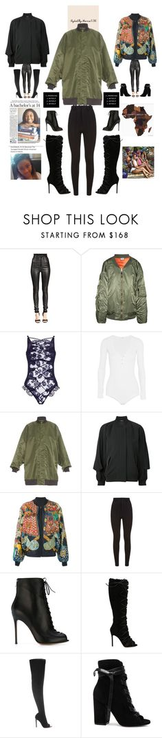 """""""Bomber Jackets #1"""" by momo-536 ❤ liked on Polyvore featuring Givenchy, Vetements, Agent Provocateur, Alix, REGULATION by Yohji Yamamoto, Maison Margiela, Hermès and Gianvito Rossi"""